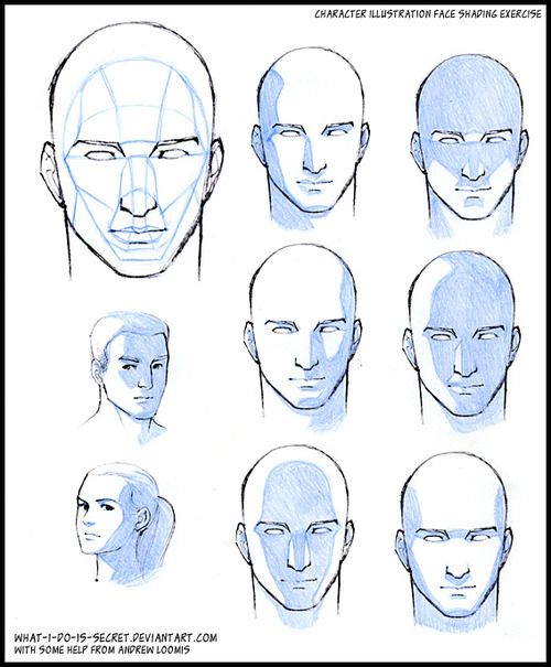 How to shade a face, drawing shadows on face, drawing shading on faces, drawing lesson