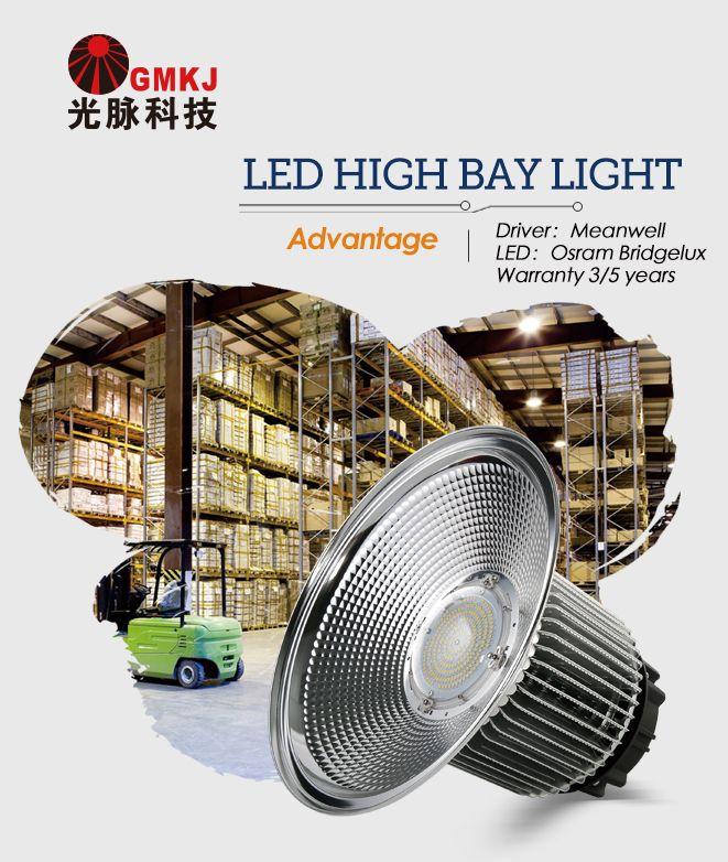 #LED HIGH BAY LIGHT:No noise, no flickering. Anti-shock, anti-moisture;No harmful radiation,eco friendly, no pollution. http://gmkjled.com