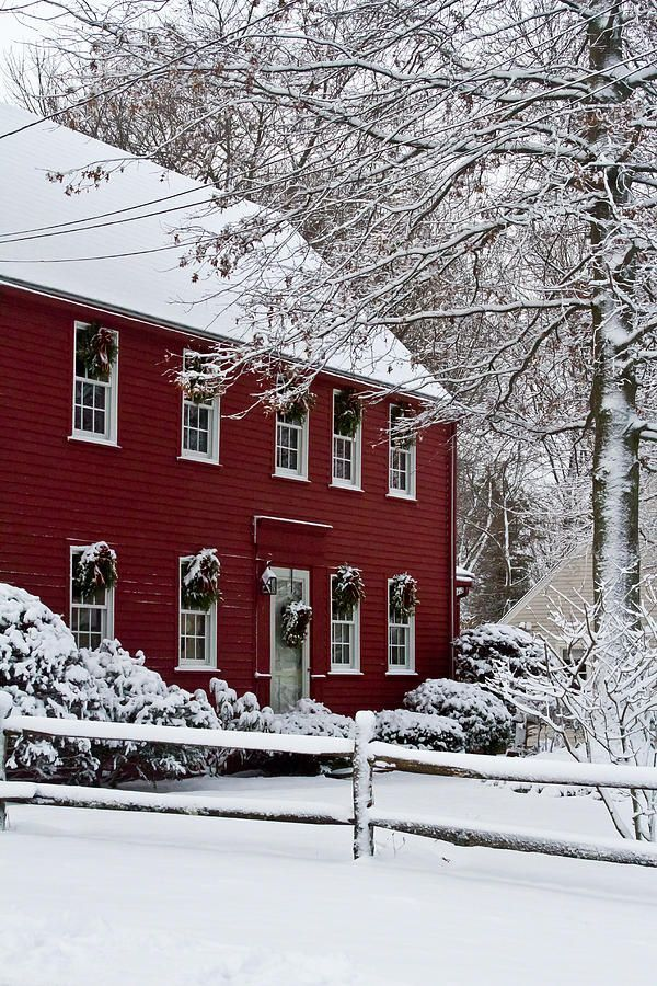 Home Sweet Home Photograph By Kristine Patti Red Houses Christmas Scenes Christmas Home