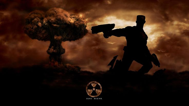 Exclusive Duke Nukem Sant John Pistol Explosion Clouds Wallpaper « Kuff Games