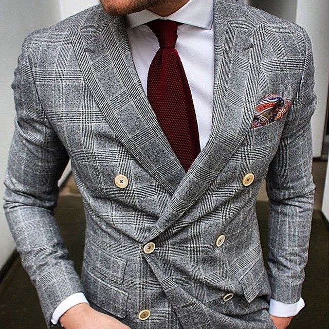 Men's Fashion   Menswear   Men's Outfit for the Office   Double Breasted Suit Jacket   Moda Masculina   Shop at designerclothingfans.com