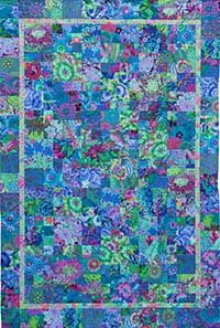 Blue Potpourri using Kaffe Fassett's fabrics - a change from my usual reds and pinks