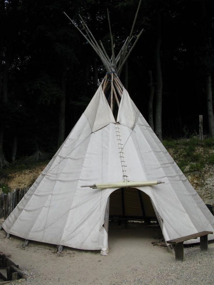 Tipi au parc des bisons à Muchedent (76) le 20/07/2010