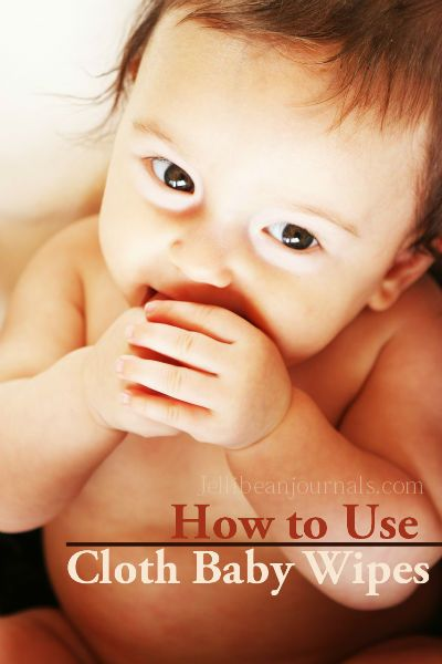 How to Use Cloth Baby Wipes. How to DIY them, buy them, & use them. #clothdiapers #naturalparenting from JellibeanJournals.com