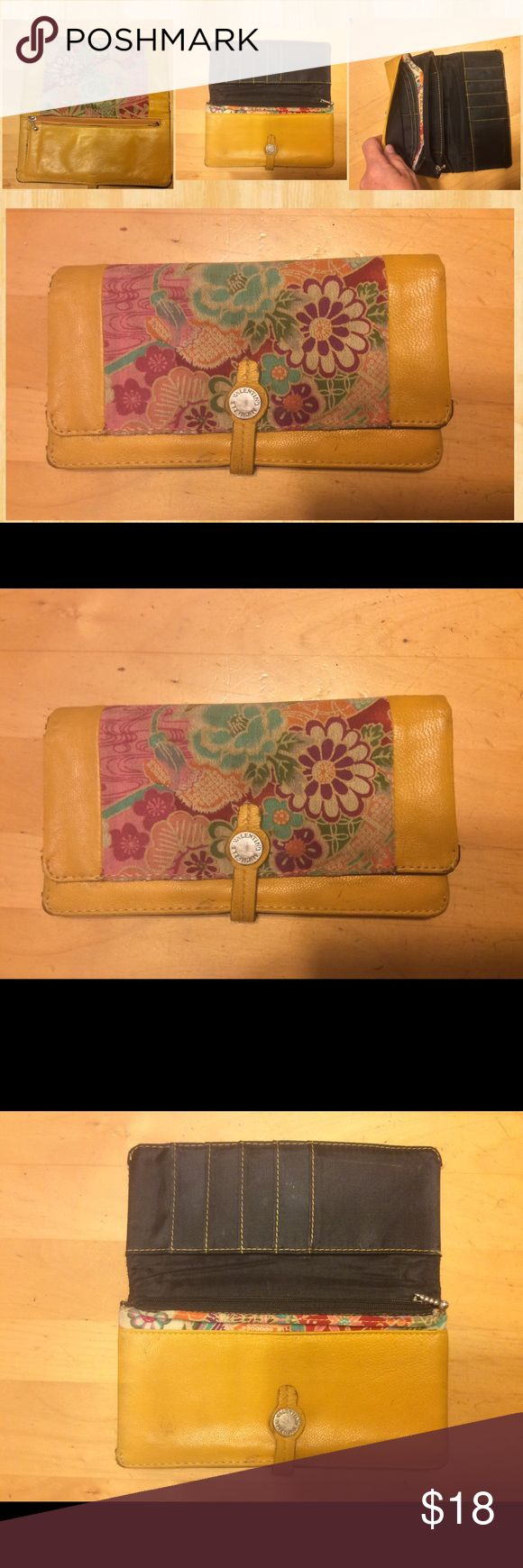 Michelle Valentino Wallet Mustard Yellow, slight use, very clean, zippers all good. Michelle Valentino Bags Wallets