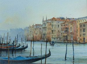 Artist: David Howell, PRSMA; Painting: The Grand Canal, Venice