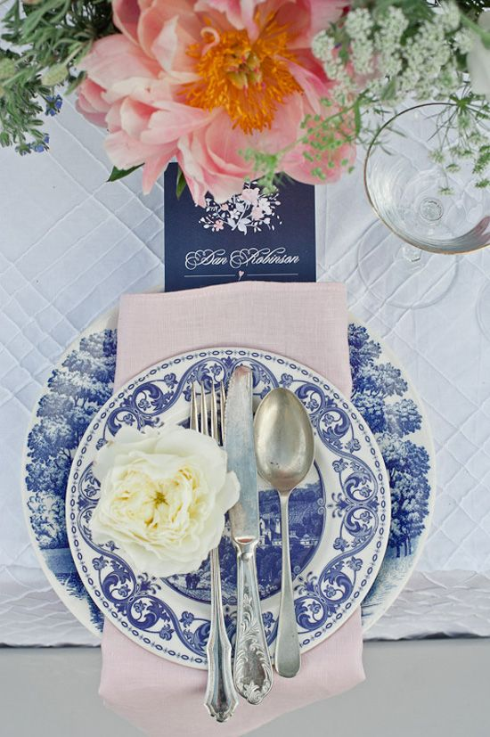 I'm not sure about you, but these vintage blue and white plates hold so many memories for me and I love that this shoot is packed full of Vintage Blue China wedding ideas.
