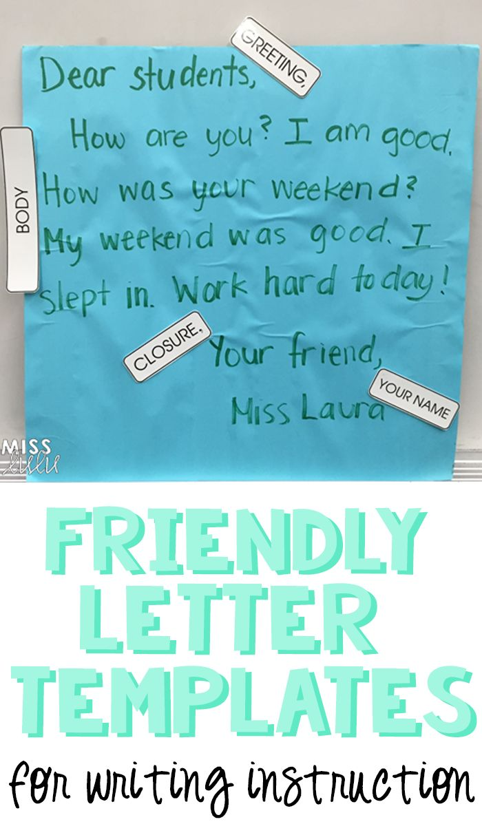 Best Writing A Letter Images On   Friendly Letter