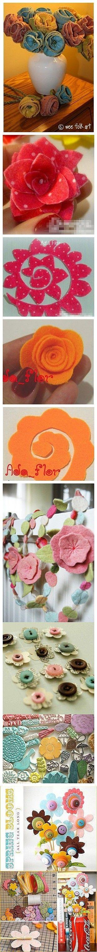 Fabric DIY, flowers