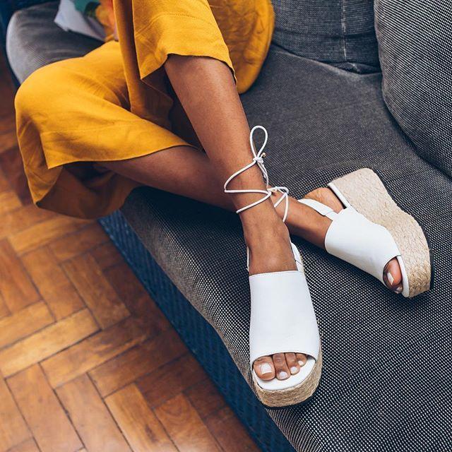 Espadrille flatform preta de couro Taquilla - Taquilla: Calçados femininos online