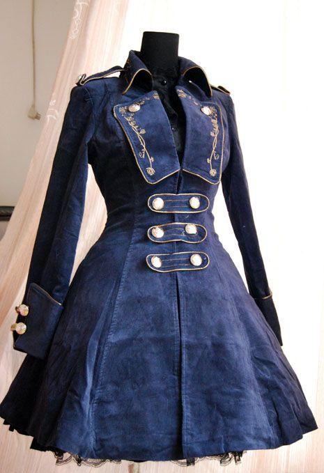 Infanta Winter Coat in Navy.