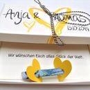 Willst Du zur Hochzeit das Geld verschenken und suchst Du nach eine schöne Verpackung? Ein tolles Geschenk zur Hochzeit.  Die Box ist mit den Namen des Hochzeitspaares bedruckt und ist ein...