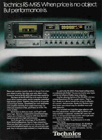 Technics RS-M95 - Vintage Audio Ads - classicaudio.com