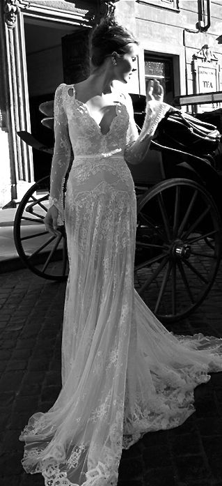 Inbal Dror Delicate Lace Detail.... Elegant & Sexy I always said this would be my dress
