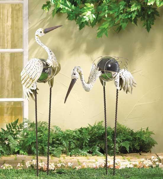 birds...: Gardens Ideas, 25 000 Seller, Gazing Ball, Yard Gardens, Cranes Gardens, Yard Art, Garden Stakes, Ball Cranes, Gardens Stakes