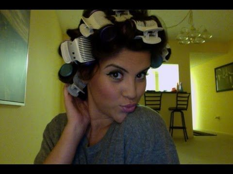 How to curl your hair with hot curlers! awesome video! Shes funny too