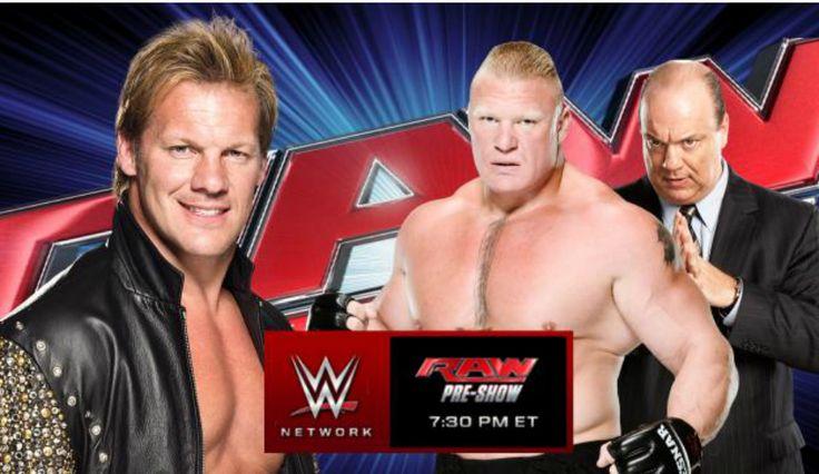 WWE News: 'Monday Night Raw' Preview — Brock Lensar And Chris Jericho