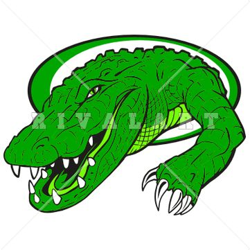Mascot Clipart Image Of A Creeping Alligator In Color
