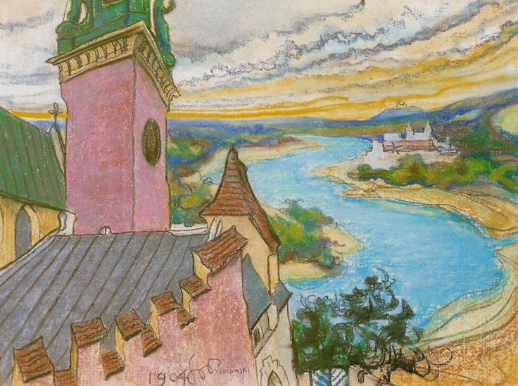 "Stanisław Wyspiański (Polish 1869–1907) ""Vistula River"", 1904, pastel, 46 x 61.2 cm, private collection."
