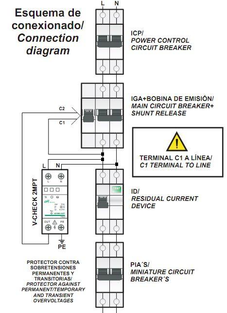 pin de tiemposfp en cuadro general de protecci u00f3n  electrica