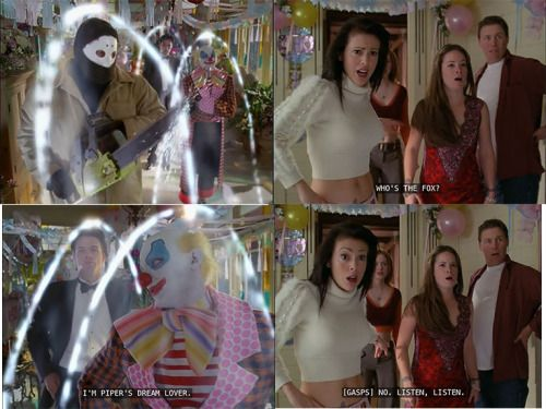 Charmed Sandman Season 5 ep 13 - when piper, phoebe, paige and leo's dreams came true. Same ep where Leo was pregnant. Who remembers this? Dream episode from Charmed. Love Alyssa's expression XD