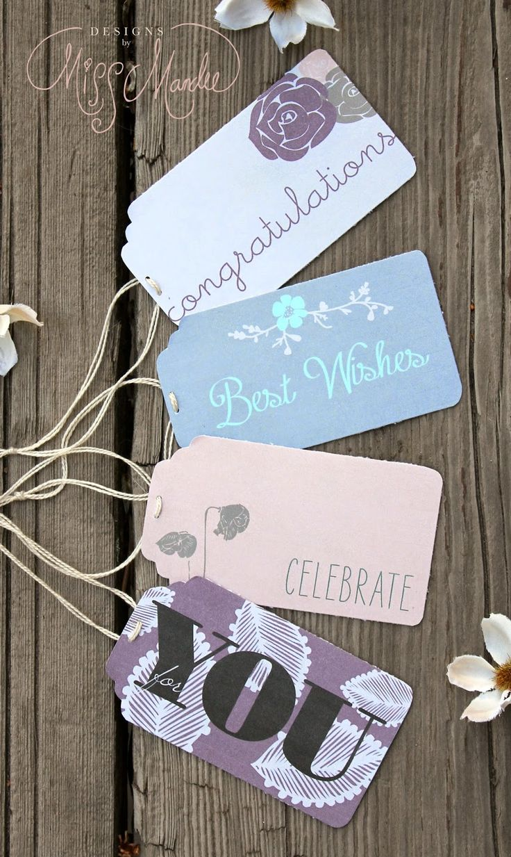 Free Chic Printable Gift Tags. How fun! Could use these for birthday presents, wedding gifts, or for a graduation present.