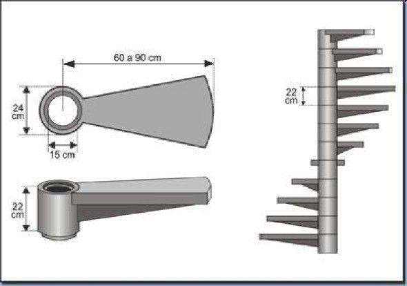 6-modelos de escadas caracol