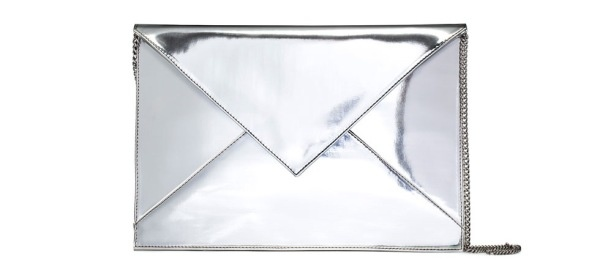 Silver is hot hot hot for Spring. This clutch is fabulous.