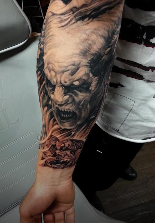 Best 18 death of demon japanese tattoo ideas on pinterest for Demon half sleeve tattoos