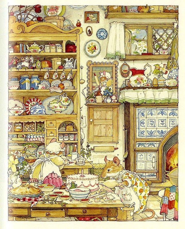 Оригинал взят у madame_roland в Jill Barklem - The Complete Brambly Hedge (Мышата из зарослей ежевики) Книжка, похожая на пирожное со взбитыми сливками :)