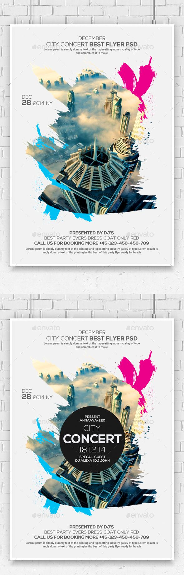 Urban City Flyer — Photoshop PSD #ambient #geometry • Download ➝ https://graphicriver.net/item/urban-city-flyer/18924092?ref=pxcr