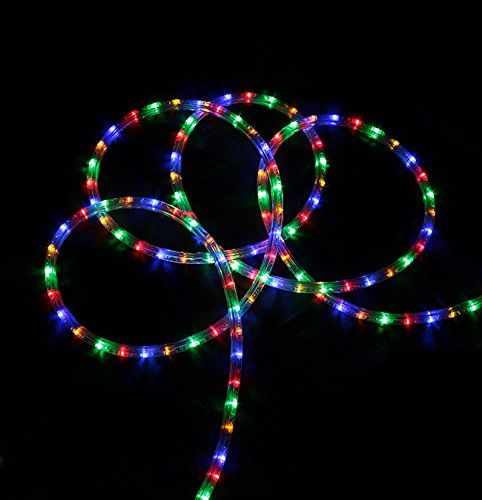 288' Commericial Grade Multi-Color LED Indoor/Outdoor Christmas Rope Lights on a Spool -- Find out @
