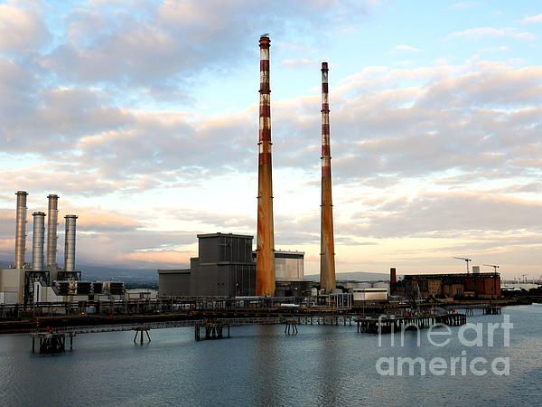 Dublins Poolbeg Chimneys, early morning. Visit my photo gallery and get a beautiful Fine Art Print, Canvas Print, Metal or Acrylic Print OR Home Decor products. 30 days money back guarantee on every purchase so don't hesitate to add some Irish Magic in your home or office.