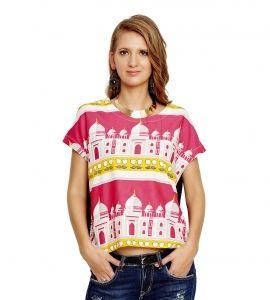 Jalebe trendy printed crop-top for women INDTJBL016
