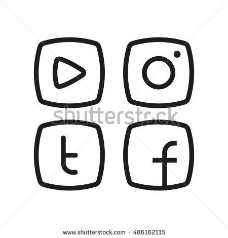 iconswebsite.com icons website Search over +6,500,000 icons , icon set, web icons, logo, business icons, button, people icon, symbol - Alternative social media icon in line flat style. Video player, hipster camera, letter t and f in frame