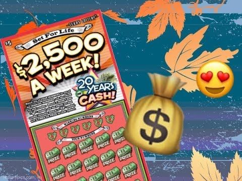 2 x $5 Set for Life Texas Lottery Scratch Off Tickets - http://LIFEWAYSVILLAGE.COM/lottery-lotto/2-x-5-set-for-life-texas-lottery-scratch-off-tickets/