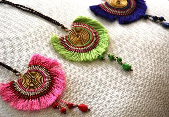 Ethnic Style Pendant Ethnic Pendant-Boho Style by amezti on Etsy
