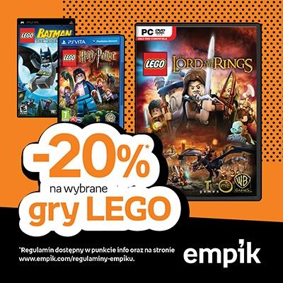 Takiej okazji fani gier LEGO nie mogą przegapić! Regulamin znajdziecie w punktach info oraz na stronie www.empik.com/regulaminy-empiku.