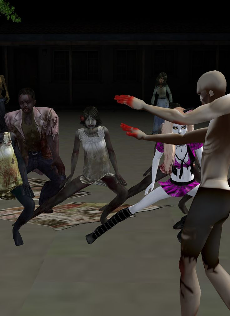 Captured Inside IMVU - Join the Fun!   wtf zombies dance!!! and btw zombie in the way doesn't dance!!! x33