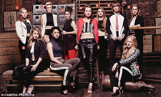 Going for gold: The British Women's Hockey team posed for a glam photo shoot in…