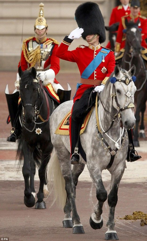 Prince William, Colonel of the Irish Guards Trooping the Colour 2011