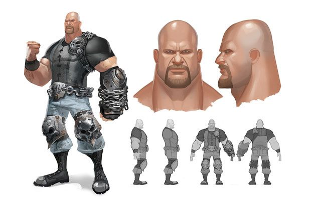 Mecha McMahon: Concept Art By Rich Lyons For A WWE Fighting Game That Never Was