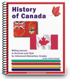 History of Canada: a product from 'The Excellence Resources Inc.' who has integrated the Writing program and Canadian History in one curriculum.