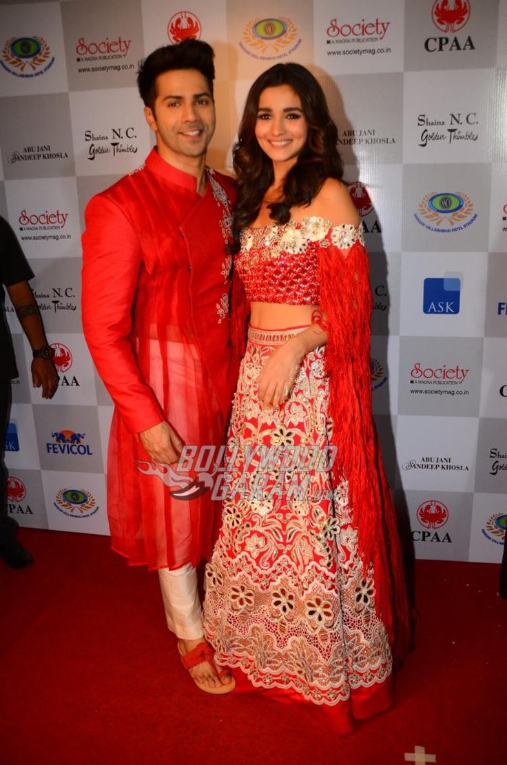Varun Dhawan and Alia Bhatt pose at the CPAA fashion event