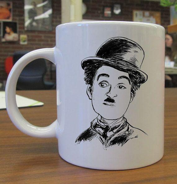 charlie chaplin caricature  CeramicMug by kembangdeso on Etsy, $15.99