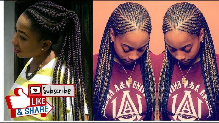 Ghana Braids Hairstyles 9 Best Video Images On Pinterest  Braids Cornrows And Beautiful Ladies