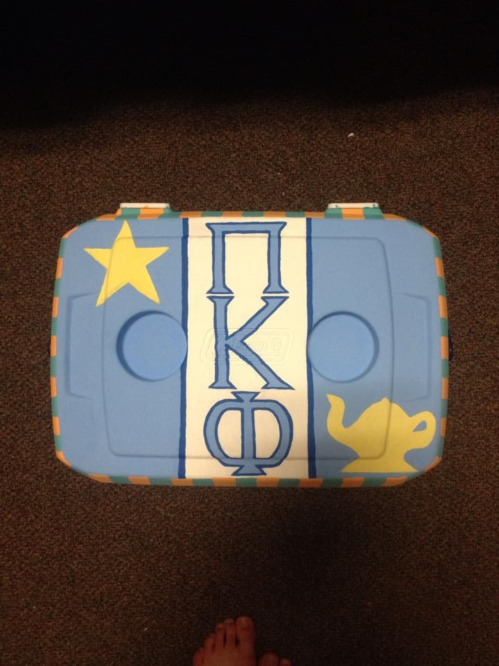 usc pi kappa phi Carolina cup 2014 fraternity painted cooler