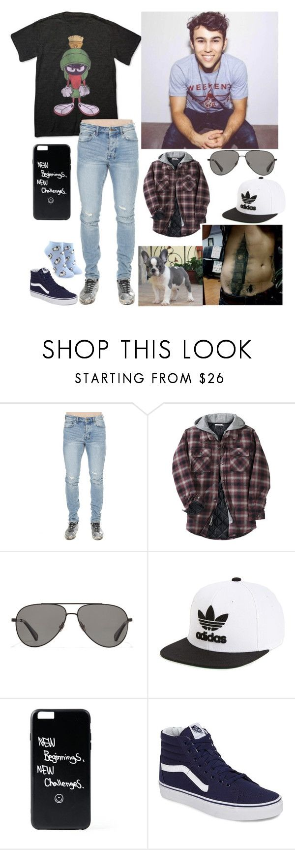 """Nicholas (19)"" by manniegk ❤ liked on Polyvore featuring Fifth Sun, Other, Vilebrequin, adidas Originals, Vans, Forever 21, men's fashion and menswear"