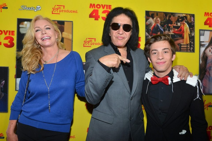 "(L-R) Shannon Tweed , musician Gene Simmons and actor Jimmy Bennett attend Relativity Media's ""Movie 43"" Los Angeles Premiere held at the TCL Chinese Theatre on January 23, 2013 in Hollywood, California. (Photo by Alberto E. Rodriguez/Getty Images For Relativity Media) 2013 Getty Images"