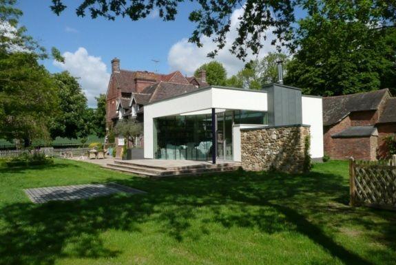 agrandissement extérieur maison moderne